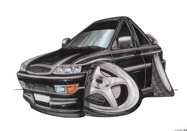 Ford Escort RS 2000 Noire