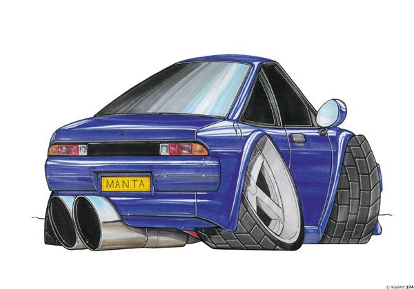 Opel Manta Bleue