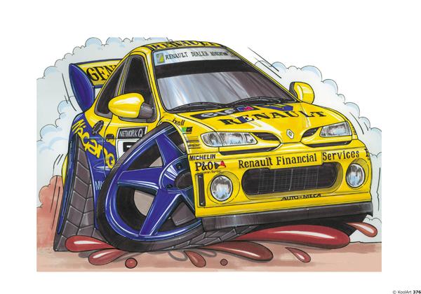 Renault Megane Rallye Jaune