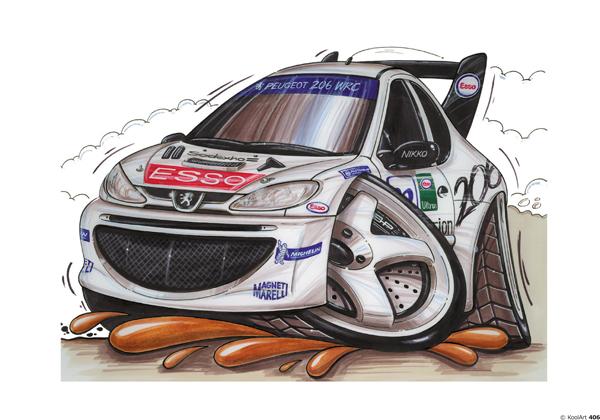 Peugeot 206 Rallye Blanche