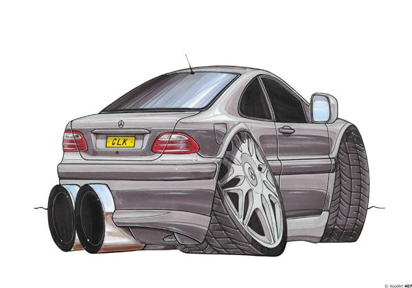 Mercedes CLK Grise