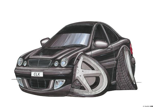 Mercedes CLK Noire
