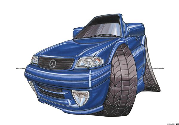 Mercedes 500 SL Cabriolet Bleue 1