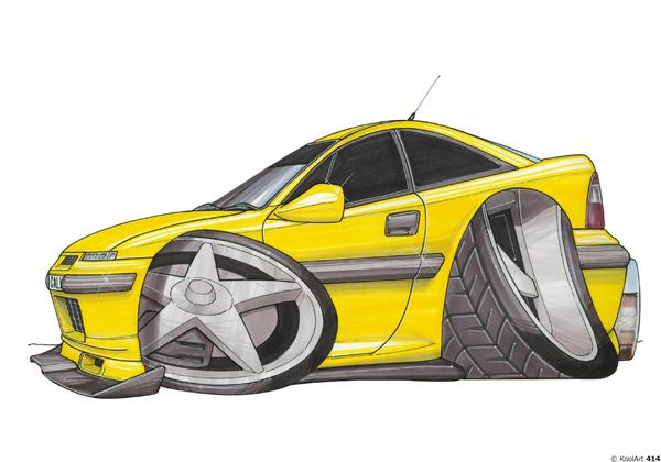 Opel Calibra Sport Jaune