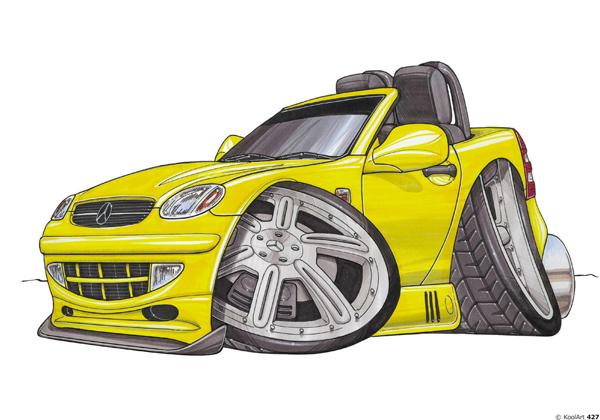 Mercedes SLK Cabriolet Jaune