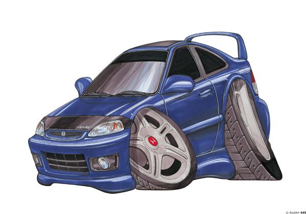 Honda Civic Sti Bleue