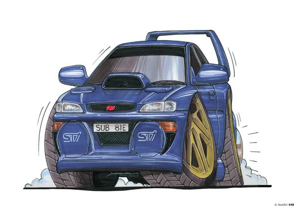 Subaru Impreza Bleue