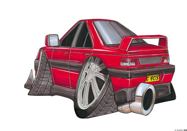 Peugeot 405 Rouge