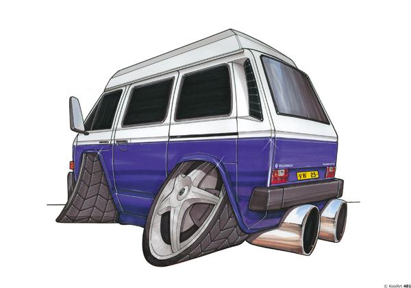 Volkswagen Transporter Bleu