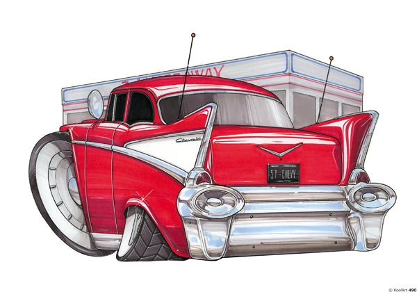 Chevrolet Bel Air Rouge