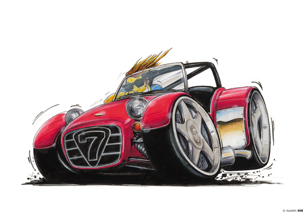 Lotus Seven Cabriolet Rouge