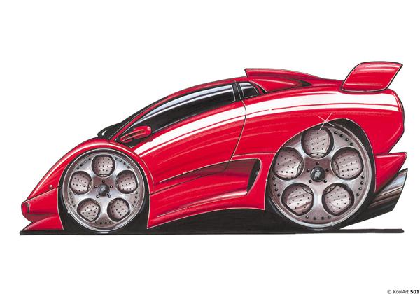 Lamborghini Diablo Rouge