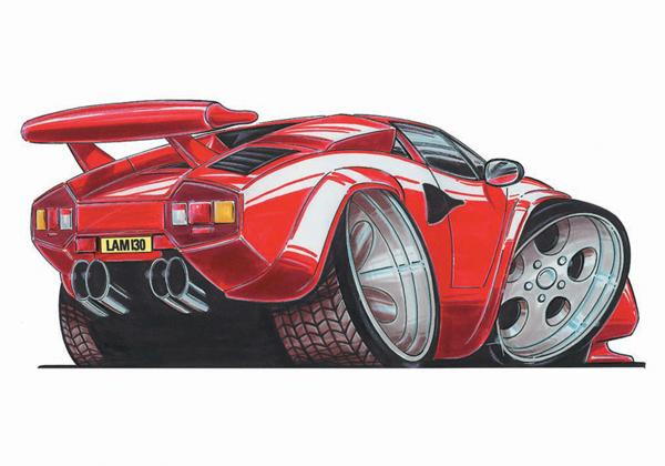 Lamborghini Countach Rouge