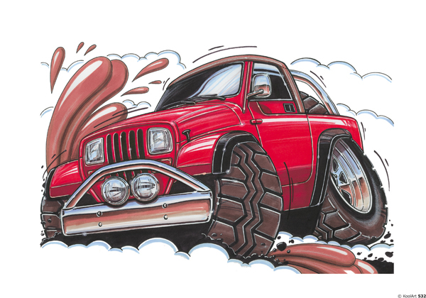 Jeep Wrangler 4X4 Rouge