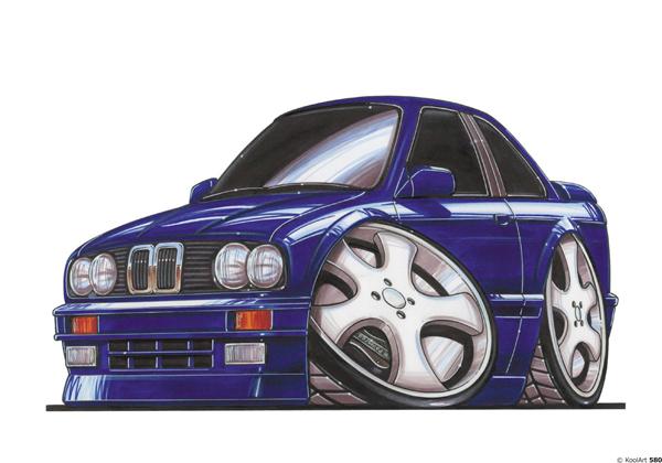 BMW E30 Bleue