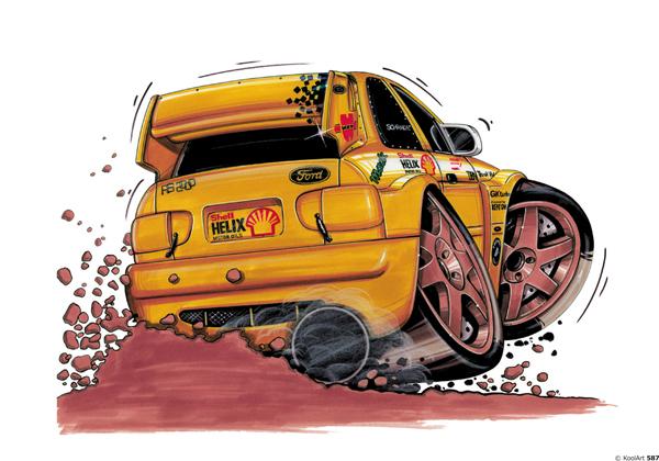 Ford Escort Rallye Jaune