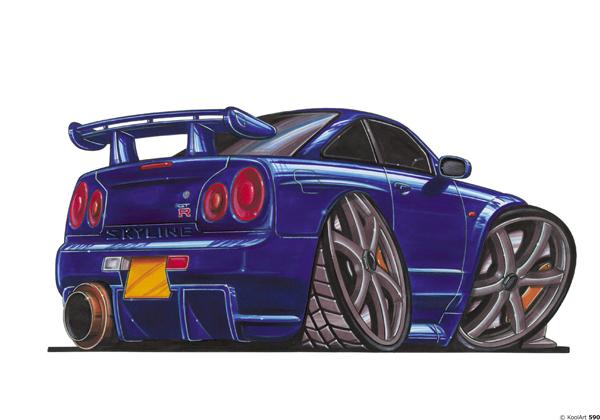 Nissan Skyline GTR Sport Bleue