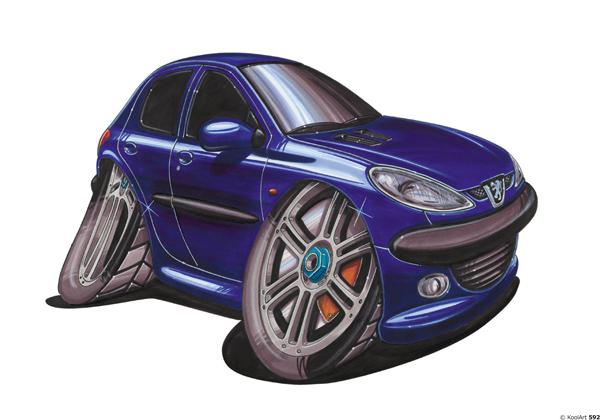Peugeot 206 Bleue