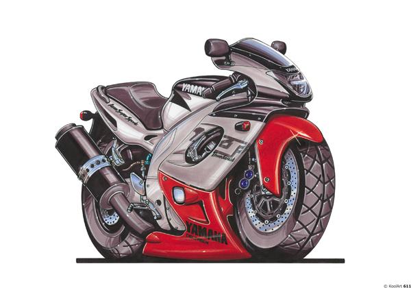 Yamaha YZF Grise et Rouge