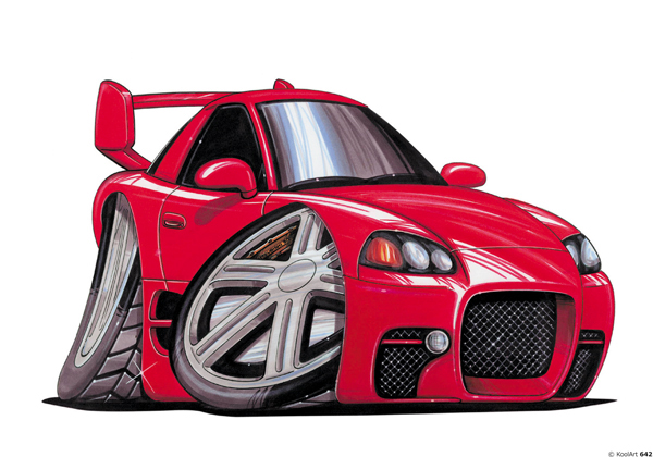 Mitsubishi 3000 GT Rouge