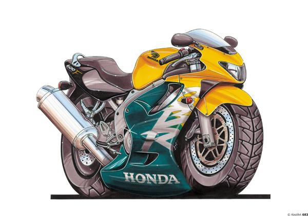 Honda CBR 600 F Jaune