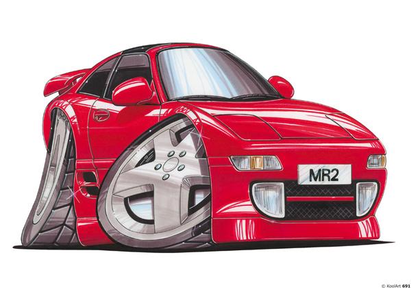 Toyota MR2 Rouge