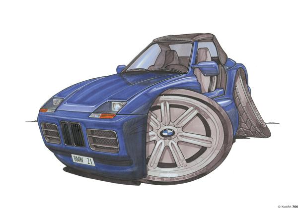 BMW Z1 Bleue Vintage