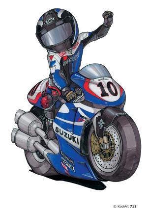 Suzuki Bleue Kenny Roberts