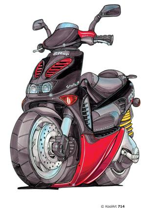 Aprilia Scooter Noir 50cc
