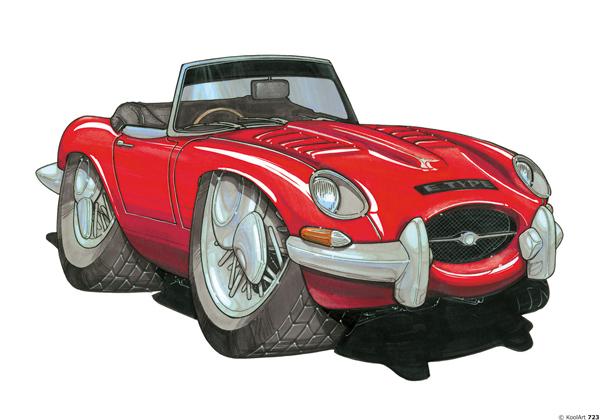 Jaguar Type E Rouge