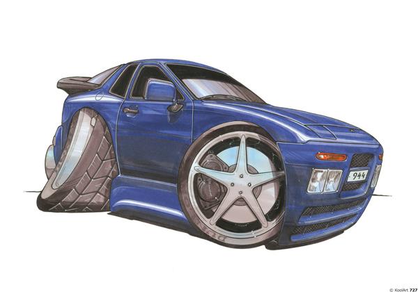 Porsche 944 Bleue