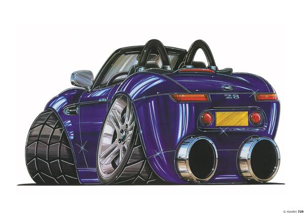 BMW Z8 Cabriolet Violette