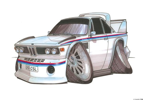 BMW 3.0 CSL Blanche