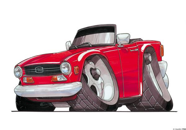 Triumph TR6 Rouge