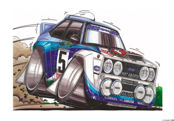 Fiat 131 Abarth Rallye Blanche