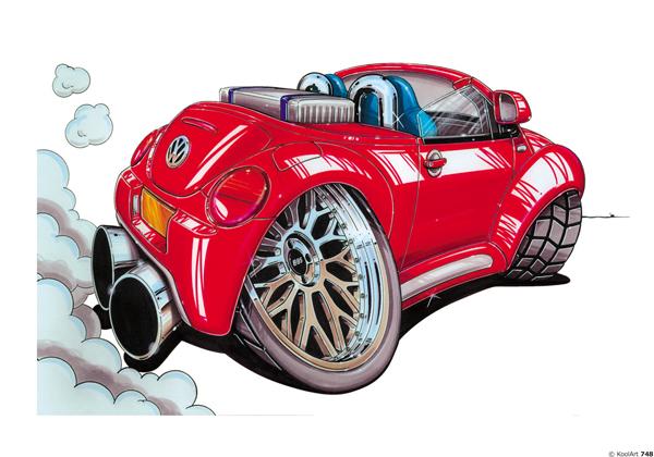 Volkswagen Beetle Cabriolet Rouge