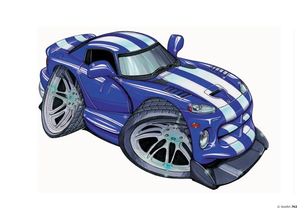Dodge Viper Bleue