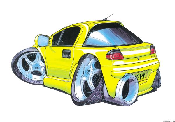 Opel Tigra Tunning Jaune