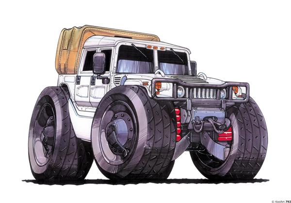 Hummer H1 Blanc