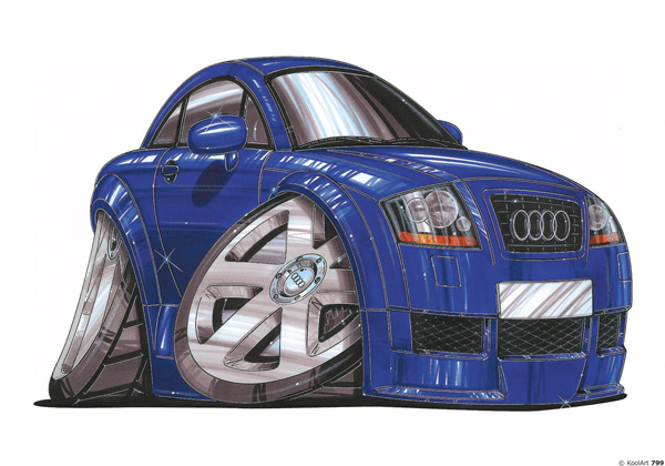 Audi TT Bleue