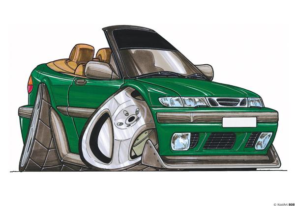 Saab 900 Cabriolet Verte