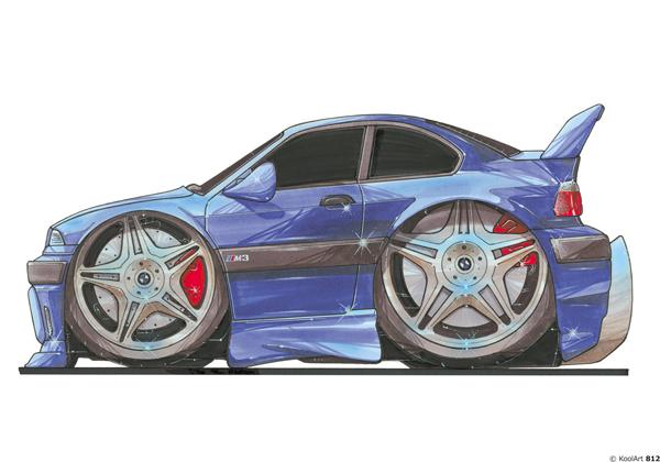 BMW M3 Coupé Bleue