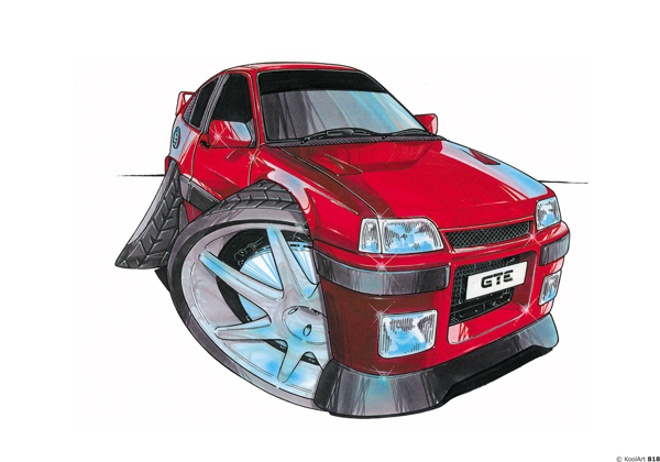 Opel Kadette GTE Rouge