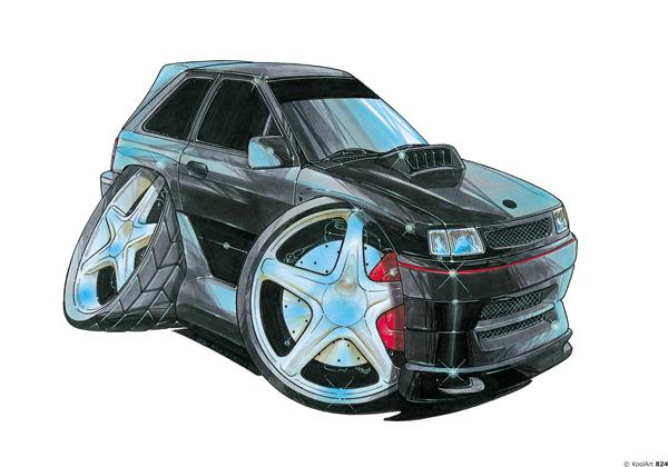 Opel Corsa Tunning Noire