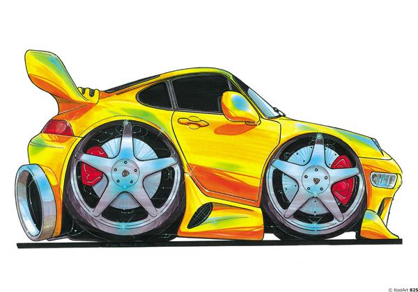 Porsche 911 Jaune