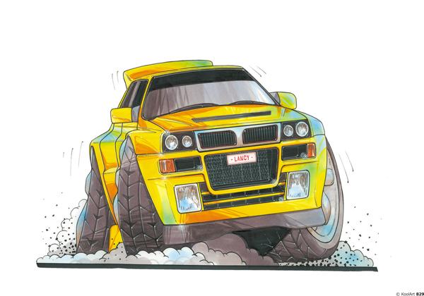Lancia Delta Integrale Jaune