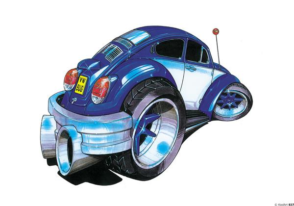 Volkswagen Coccinelle Bleue