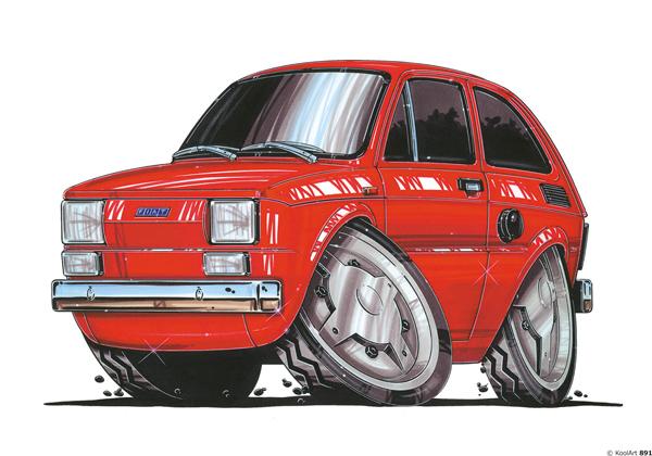 Fiat 600 4X4 Orange