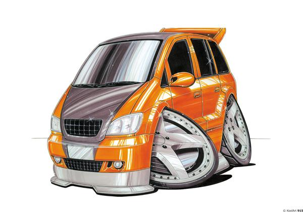 Opel Zafira Tunning Orange
