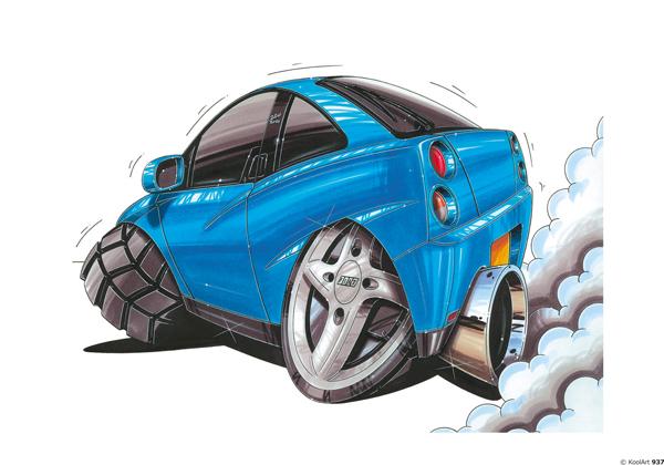 Fiat Coupé Bleue